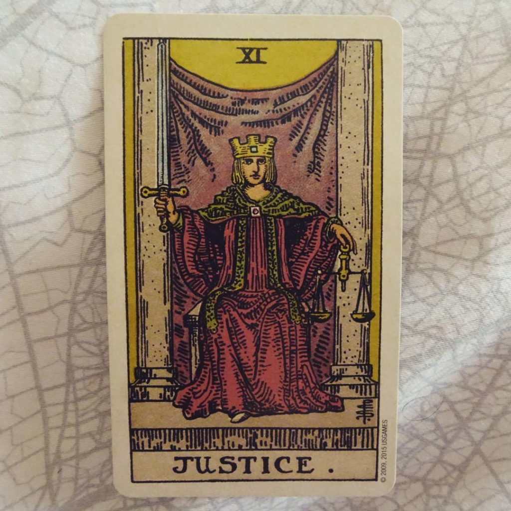Justice - Tarot Card for the Year